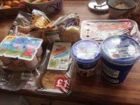 Produkty spożywcze w opakowaniach